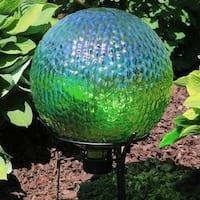 Sunnydaze Green Textured Surface Gazing Globe Ball - 10-Inch