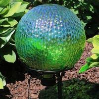 Sunnydaze Green Textured Surface Outdoor Garden Gazing Globe Ball - 10-Inch
