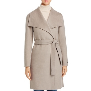 Link to Tahari Ellie Women's Belted Double Face Mid-Length Wool Blend Wrap Coat Similar Items in Women's Outerwear