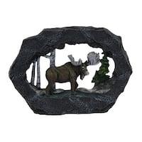 Rock Vistas Stone Look Frame Moose Sculpture - gray