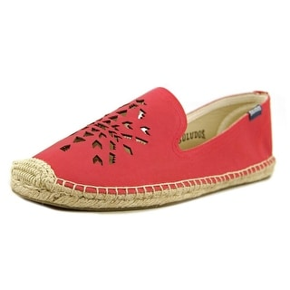 Soludos Dream Catcher Women Round Toe Leather Red Espadrille