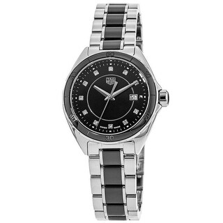 Link to Tag Heuer Women's WBJ141AB.BA0973 'Formula 1' Two-Tone Ceramic and Stainless Steel Watch - Black Similar Items in Women's Watches