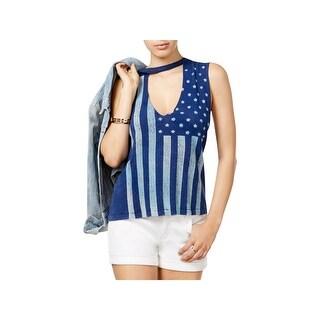 Project Social T Womens Tank Top Knit Printed - L