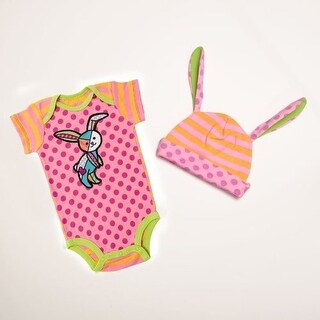 Britto Bebe Girl Onesie and Hat Set Size 0-6 Months - 7.0 in. x 2.0 in. x 17.0 in.