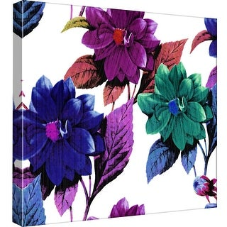 "PTM Images 9-99075  PTM Canvas Collection 12"" x 12"" - ""Watercolor Flowers"" Giclee Flowers Art Print on Canvas"