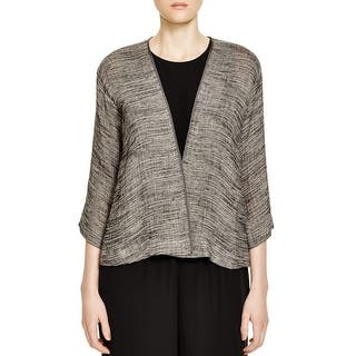 Eileen Fisher Womens Petites Cardigan Top Striped Open Front (Option: Grey)|https://ak1.ostkcdn.com/images/products/is/images/direct/26bcc3afe6ac1efedb8e5572409739e56cce224b/Eileen-Fisher-Womens-Petites-Cardigan-Top-Striped-Open-Front.jpg?impolicy=medium