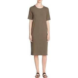 Eileen Fisher Womens Casual Dress Jersey Side Slit
