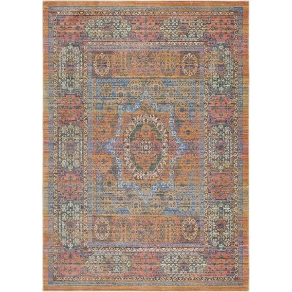 Surya GER2302-211710 Germili 3' x 8' Runner Synthetic Power Loomed Traditional A - Yellow - N/A