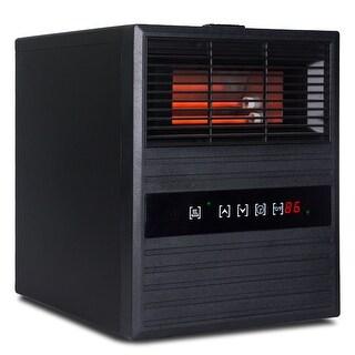 Della Portable Electric Infrared Quart Heater 1500watt with Remote Control and Wheels, 1500-Watt