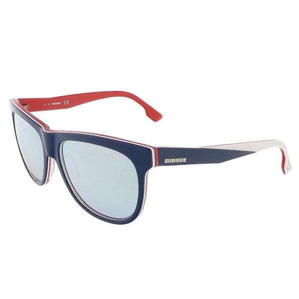 Diesel DL0112/S 92C Navy Blue/White&Red Wayfarer sunglasses - navy blue/white&red - 56-16-140