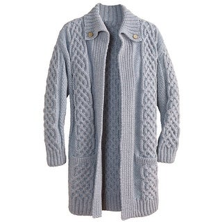 Women's Sweater Coat - Fiona Cable Knit Long Cardigan