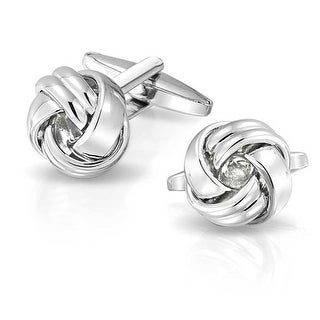 Bling Jewelry High Polished Mens Pair Love Knot Cufflinks Stainless Steel Plated