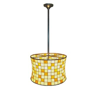 "Meyda Tiffany 21986 20"" W Hilton Barrel Foyer Pendant"
