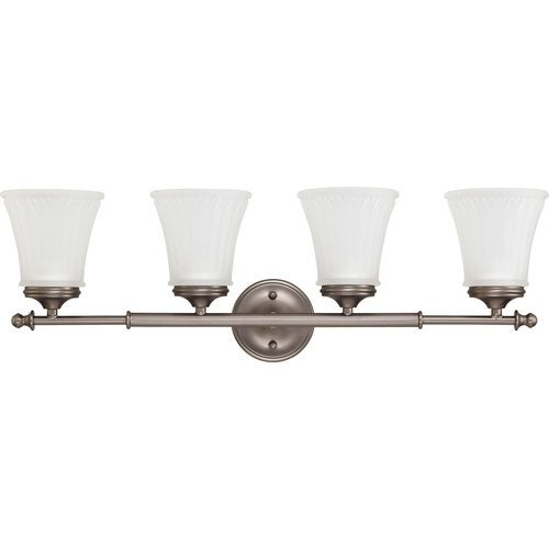 Nuvo Lighting 60/4014 Teller Four Light Bathroom Fixture with Frosted Etched Glass