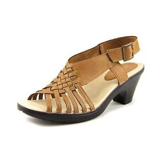 Easy Street Weave W Open-Toe Synthetic Slingback Sandal