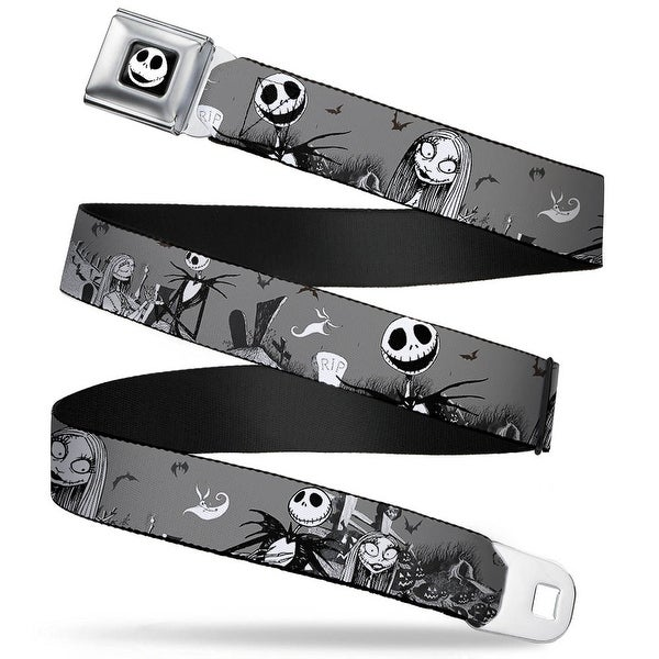 Jack Expression7 Full Color Nightmare Before Christmas Jack & Sally Seatbelt Belt