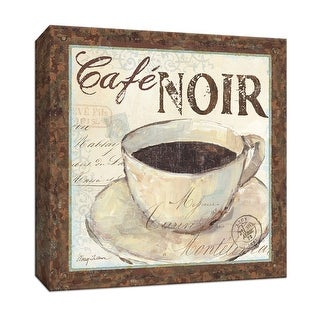 "PTM Images 9-152119  PTM Canvas Collection 12"" x 12"" - ""Cafe du Matin II"" Giclee Coffee, Tea & Espresso Textual Art Print on"