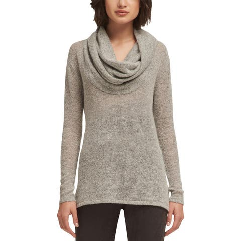 DKNY Womens Pullover Sweater Stretch Cowl Neck