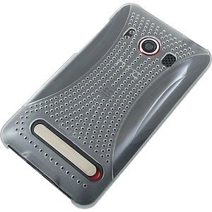 HTC EVO 4G Xmatrix Rear Protex Snap On Case - Transparent Clear
