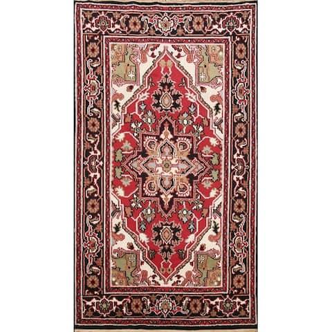 "Heriz Oriental Traditional Geometric Area Rug Handmade Wool Carpet - 5'1"" x 7'11"""