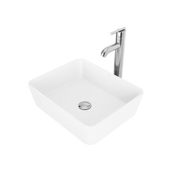 Shop Vigo Vgt1011 18 Matte Stone Bathroom Vessel Sink With Seville
