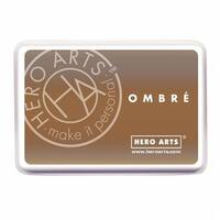 Hero Arts 435893 Ombre Ink Pad - Sand To Chocolate Brown