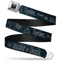 Harry Potter Logo Full Color Black White Hp Deathly Hallows Symbol Seatbelt Belt