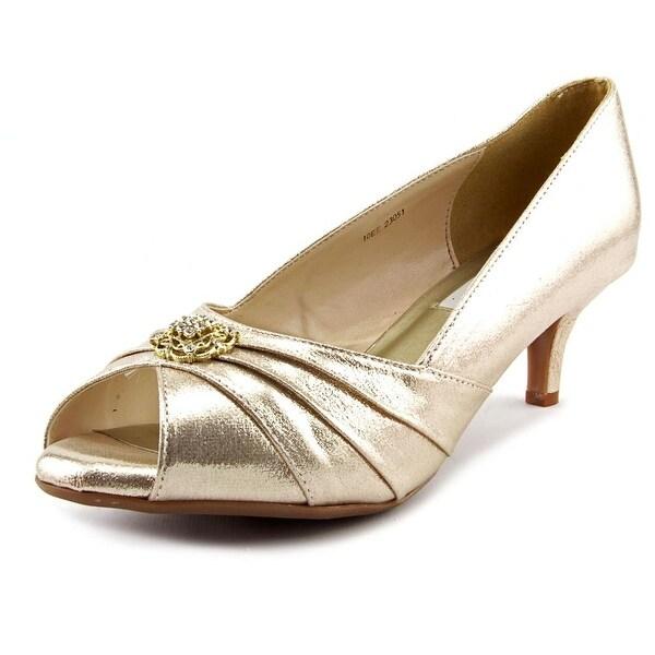 Dyeables Kristin Women D Peep-Toe Canvas Heels