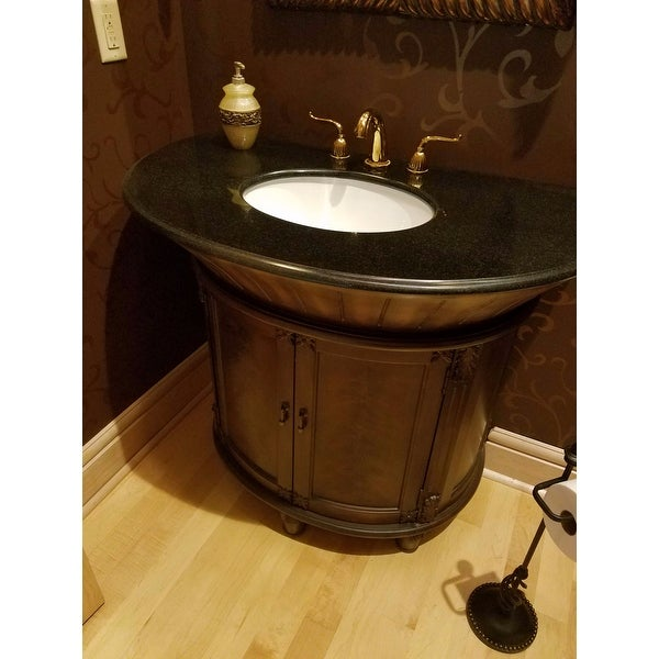 Superieur Shop ICA Furniture Anteros Demilune Brown Cherry Bathroom Vanity   Free  Shipping Today   Overstock.com   9291027