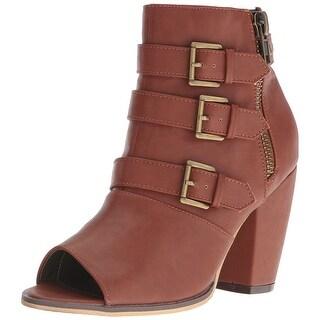 Michael Antonio Womens Maklar Peep Toe Ankle Fashion Boots - 8