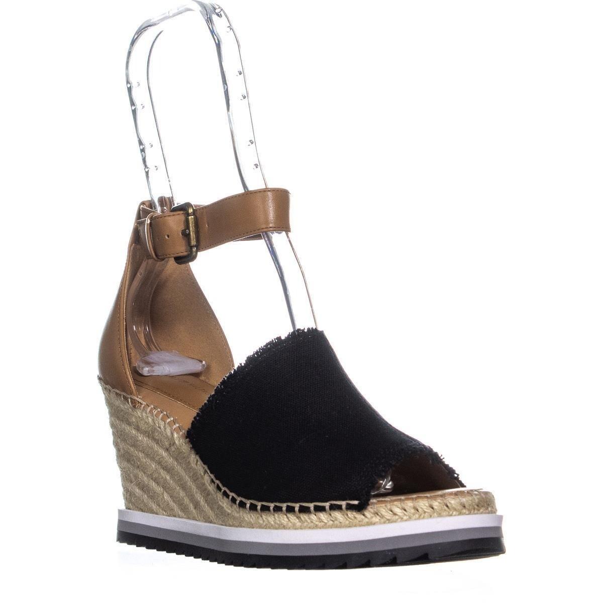 8d7ba68a97f Tommy Hilfiger Yavino Ankle Strap Wedge Sandals, Black Multi