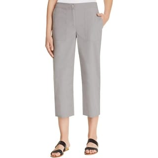 Eileen Fisher Womens Petites Cropped Pants Straight Fit Elastic - pm
