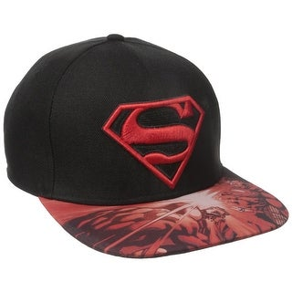 DC Comics Superman Sublimated Flat Brim Baseball Cap