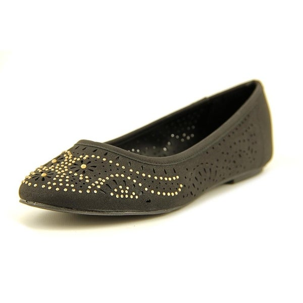 Mia Girl Dolce Women Round Toe Synthetic Black Flats