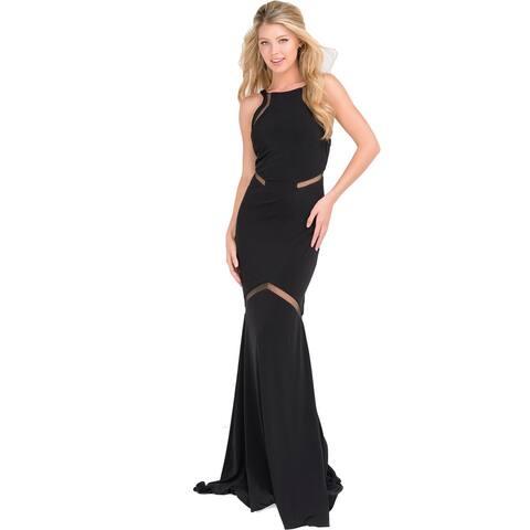 JVN by Jovani Womens Formal Dress Illusion Full-Length