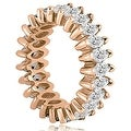 4.50 cttw. 14K Rose Gold Marquise Diamond Eternity Ring - Thumbnail 2