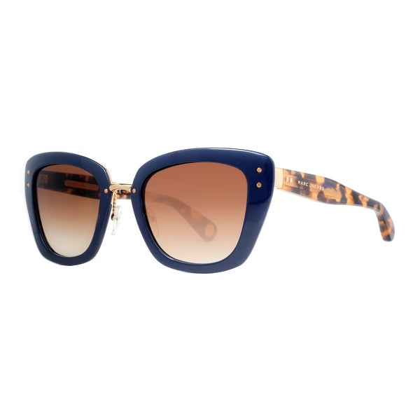Marc Jacobs MJ 506/S 0NU/CC Blue/Havana Brown Gradient Women's CatEye Sunglasses - Blue - 53mm-23mm-140mm