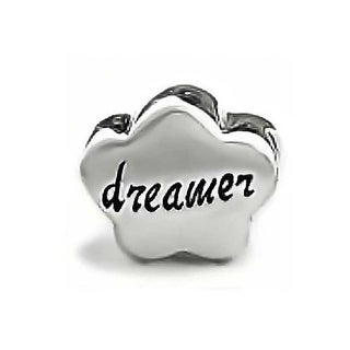 Bling Jewelry Flouting Cloud Dreamer Charm Bead 925 Sterling Silver Inspirational Message Bracelet
