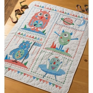 """Monster Crib Cover Stamped Cross Stitch Kit-34""""X43"""""""