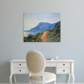 Easy Art Prints Claude Monet's 'La Corniche near Monaco' Premium Canvas Art