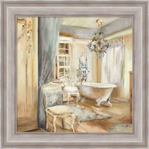 Marilyn Hageman 'Boudoir Bath I Gray' Framed Art