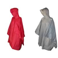 Totes Hooded Pullover Rain Poncho with Side Snaps (Pack of 2) - One size