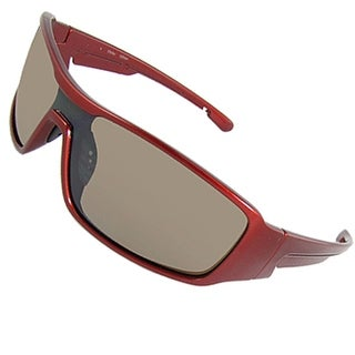 Nose Pad Burgundy Full Rim Unisex Outdoor Sunglasses