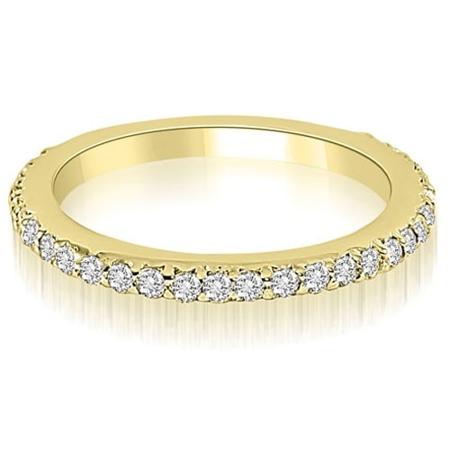 0.40 cttw. 14K Yellow Gold Classic Round Cut Diamond Wedding Band