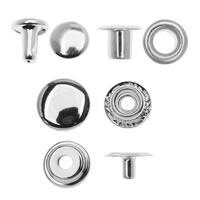 Create Recklessly, Eyelet / Rivet / Snap Hardware Kit, 58 Total Pieces, Silver Plated