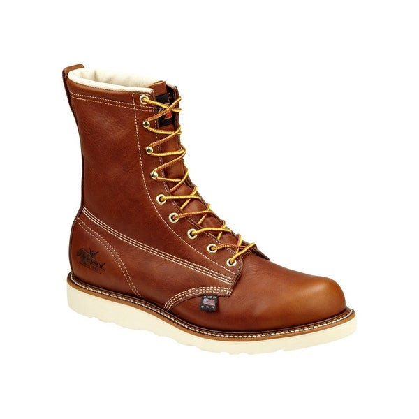 Thorogood Work Boots Men CT Waterproof Insulated Wedge Brown 804-4280