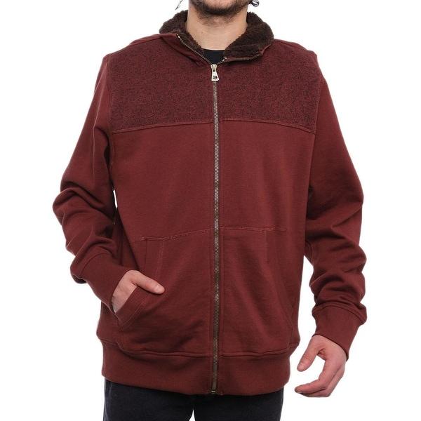 Weatherproof Zip-Front Sweater Jacket Men Rum Raisin Coat