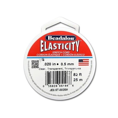 Beadalon Elasticity .5mm Clear 25M
