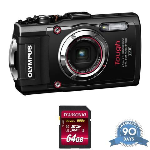 Olympus Stylus TOUGH TG-3 Digital Camera (Black) - with Memory Card -