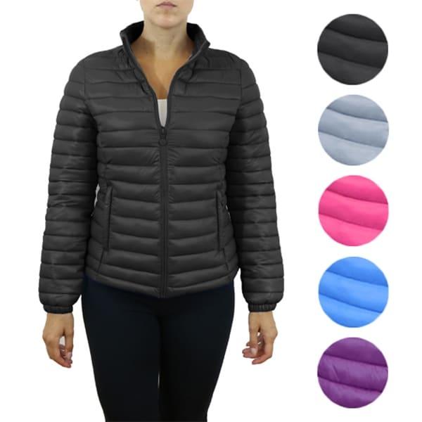 Women's Lightweight Puffer Jackets With Zipper Pockets. Opens flyout.